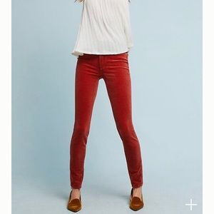 {Anthropologie} Corduroy High-Rise Skinny Jeans